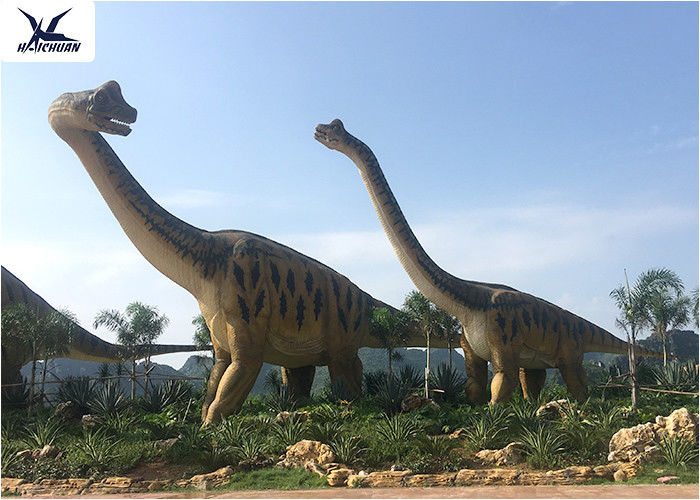 Amusement Park Equipment Real Life Size Dinosaurs , Dinosaur Lawn Ornament